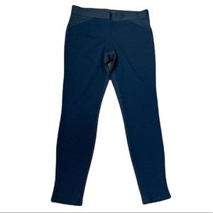 Theory Two Toned Wool Navy Straight Leg Trouser Pants